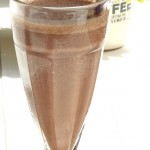 Dairy free chocolate and banana milkshake