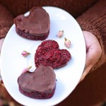 Red Velvet Raw Vegan Beetroot 'Bounty' Heart Bars
